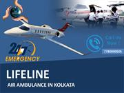With Lifeline Air Ambulance in Kolkata Transportation is Safe &Easy