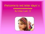 Welcome to red letter days! x