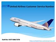 1877-546-7370  United Airlines Customer Service Number