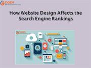How Website Design Affects the Search Engine Rankings