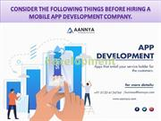 Consider the following things before hiring a mobile
