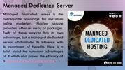 Benefits Of Managed Dedicated Server