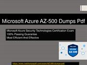 Microsoft Azure AZ-500 Dumps Pdf - Official And Reliable