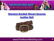 Womens Woven Genuine Leather Belt