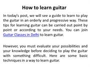 How to learn Guitar | Guitar Class In Delhi