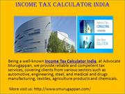 Income Tax Calculator India