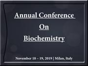 Biochemistry Conference | Molecular Biology Congress