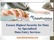 DataPlusValue Specialized Data Entry India Secure Your Data