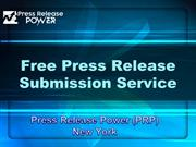 Free Press Release Submission Service