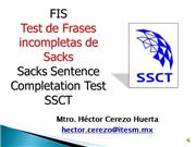 Test de Frases Incompletas de Sacks