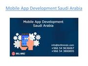 Mobile App Development Saudi Arabia