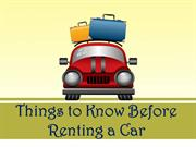 Things to Know Before Renting a Car