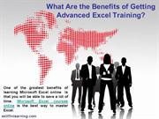 What Are the Benefits of Getting Advanced Excel Training?