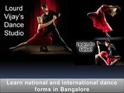 Dance school in Bangalore - Learn national and internationsl dance for