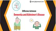 difference btw dementia&Alzheimer's