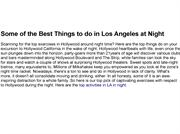 Some of the Best Things to do in Los Angeles at Night