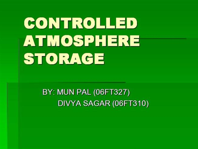Storage of fruits and vegetables ppt