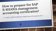 Best Study Tips for SAP C_TS4CO_1809 Certification Exam.