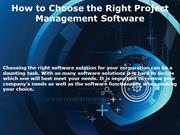 How to Choose the Right Project Management Software