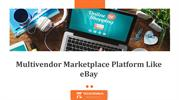 Multivendor Marketplace Platform Like eBay - Techcronus