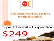 How much should you pay for a termite inspection