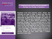 Best Heritage Tour of Rajasthan