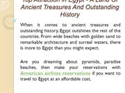Top Attraction in Egypt - A Land Of Ancient Treasures