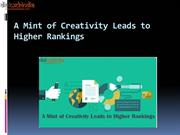 A Mint of Creativity Leads to Higher Rankings