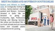 Packers and Movers in South Delhi