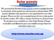 Solar panels, GEL battery &Battery charger