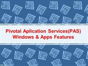Pivotal Applications Services Windows & Apps Features