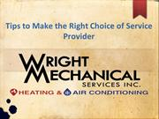 Tips to Make the Right Choice of Service Provider