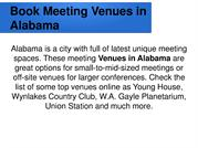 Book Meeting Venues in Alabama