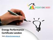 Energy Performance Certificate (EPC) London
