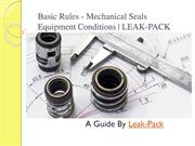 Basic Rules - Mechanical Seals Equipment Conditions-