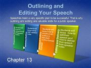 Outlining and Editing Your Speech