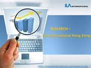 Research -  ILA International Hong Kong