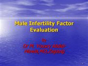 Male infertility factorevaluati yousry April2005