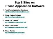 Top 5 iPhone Application Software sites