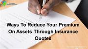 Protect Your Assets & Get Compare Cheap Insurance Quotes