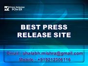 BEST PRESS RELEASE SITE
