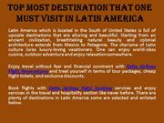 Top Most Destination that One Must Visit in Latin America
