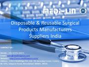 Medilin is  one of the leading Indian manufacturer of Disposables Gown