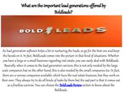 What are the important lead generations offered by Boldleads
