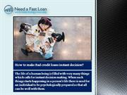 How to make Bad credit loans instant decision