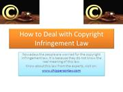 How to Deal with Copyright Infringement Law