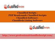 Classified Scripts, PHP Readymade Classified Scripts, Classified Softw
