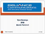 reliance ltd.