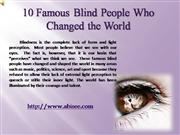 10  Blind People Who Changed the World