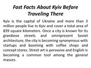 Fast Facts About Kyiv Before Traveling There